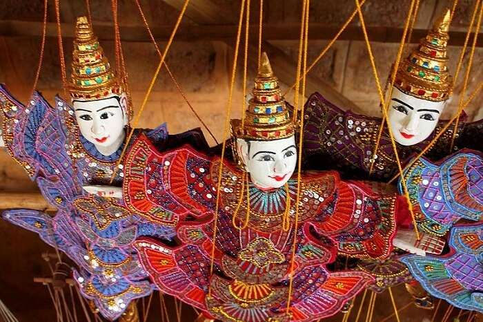 puppets are made from Burmese art