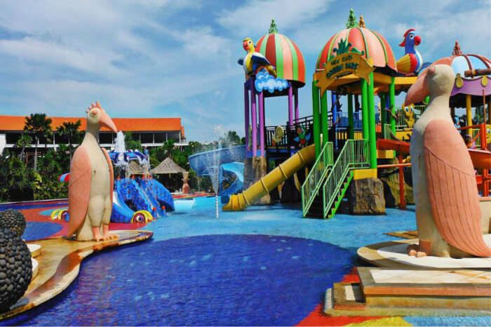 water park is wonderful to chill out