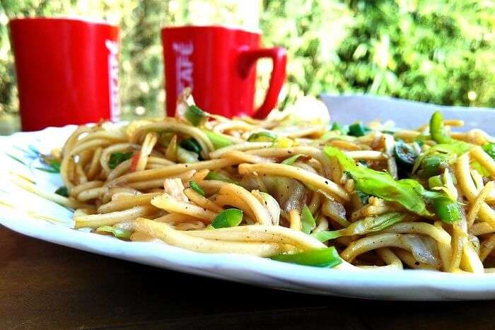 Noodles with Iced Coffee