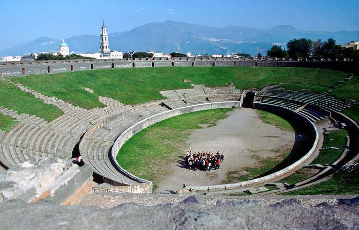 pectacular amphitheater of Pompeii