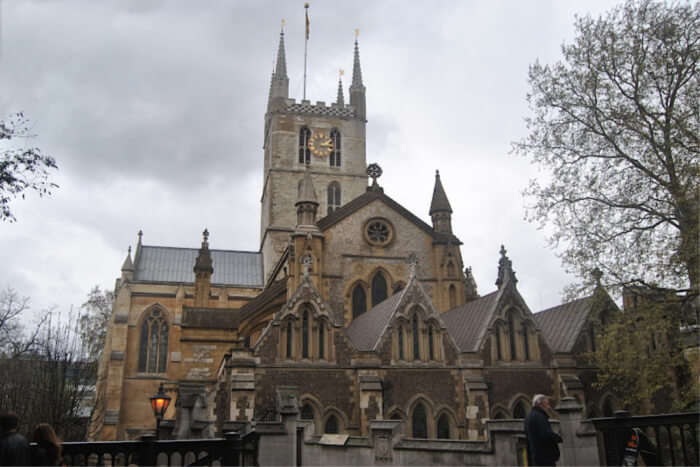 Southwark Cathedral- Stained-glass windows and frescos