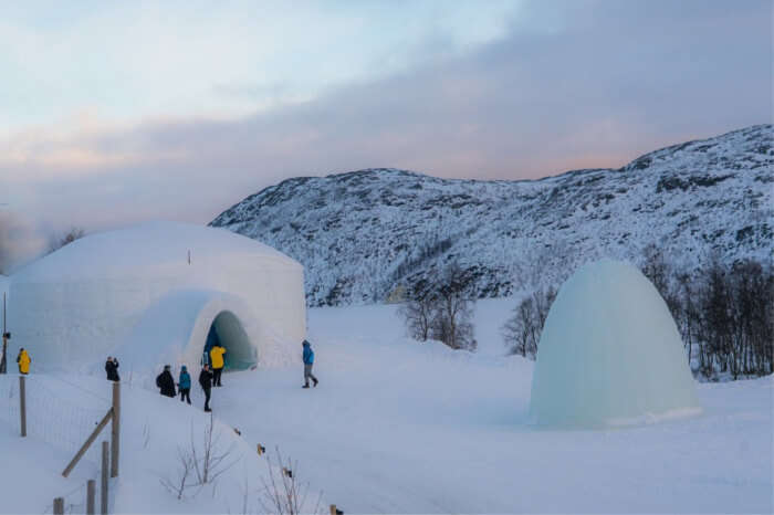 Stay in an ice hotel