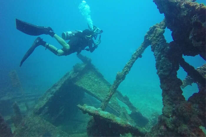 love to dive among shipwrecks