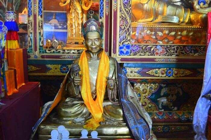 statue of the Divine Madman.