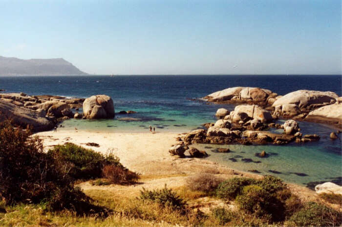 Huge boulders and turquoise wate