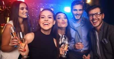 People partying at clubs and enjoying