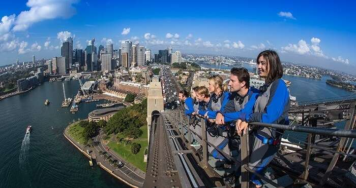 climbing sydney harbor bridge