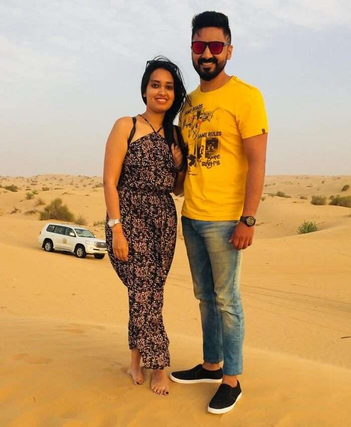 Desert Safari with my wife