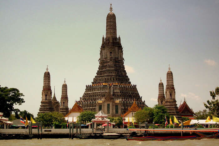 Tall religious temple
