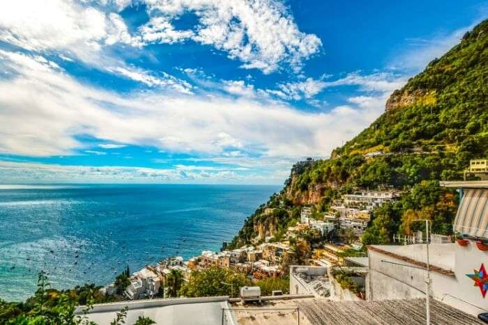 Coast Positano Amalfi Sorrento Sea Italy
