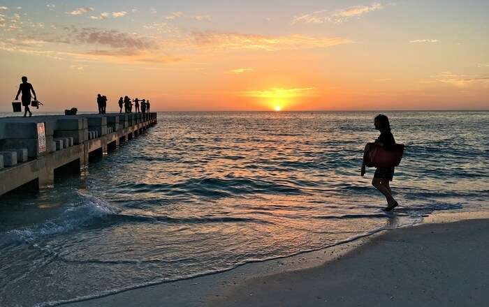Beautiful Sunset on beach