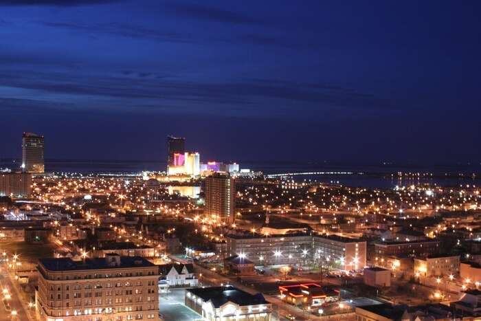 Atlantic City view at night