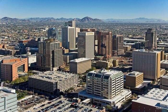 Phoenix city view