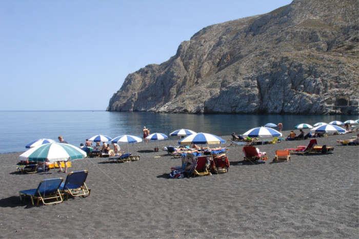 Black Beach of Santorini