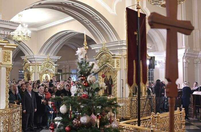Christmas Celebrations in Saint Petersburg