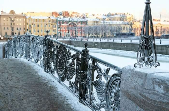 St Petersburg Russia City Beautiful Winter Spb