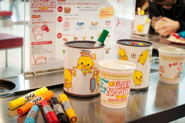 Create your own noodles at the Noodles Museum Osaka