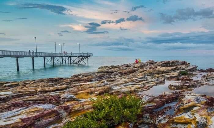 Peer Sunset Coastline