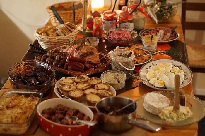 Delicious food for Christmas