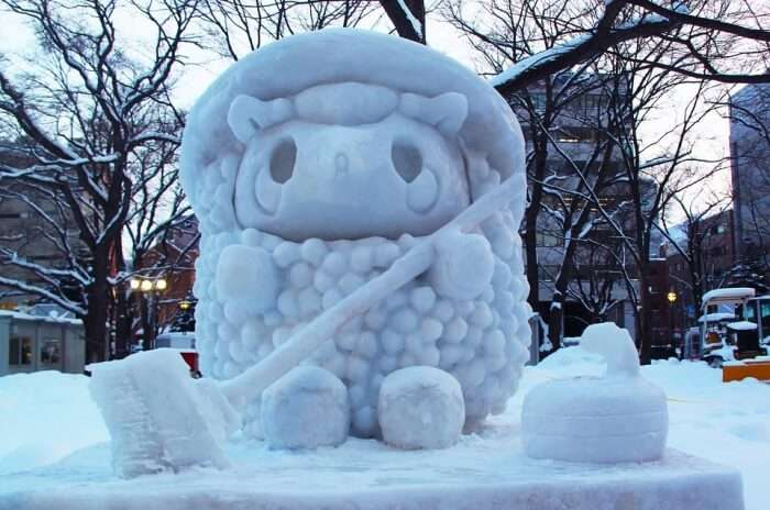 Enjoy viewing the Snow Sculptures