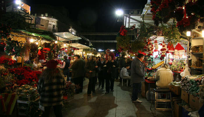 biggest Christmas market in Barcelona