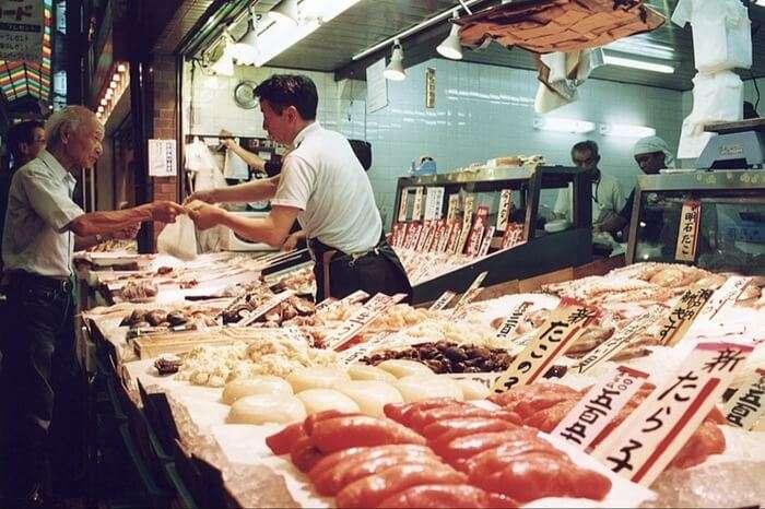 Nishiki market, Japan