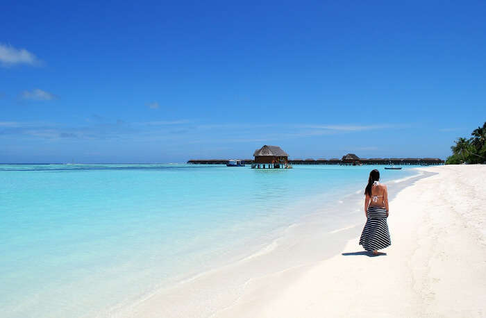 Fulhadhoo Island Beach in Maldives