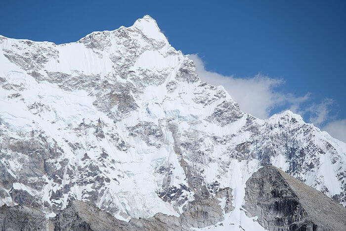 Snow mountain peak
