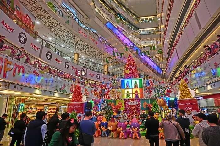 Christmas Market in Hong Kong