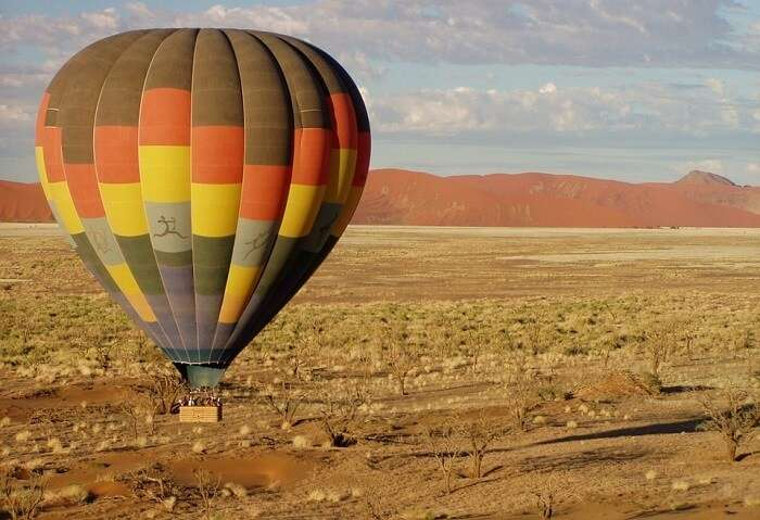 Hot Air Balloon Africa Colorful Fly Namibia