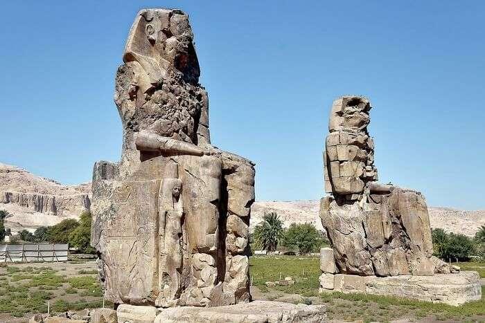 Luxor Egypt Antiquity Travel Colossi Of Memnon