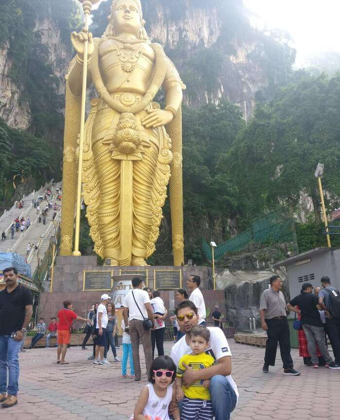 LArge statue of god in temple