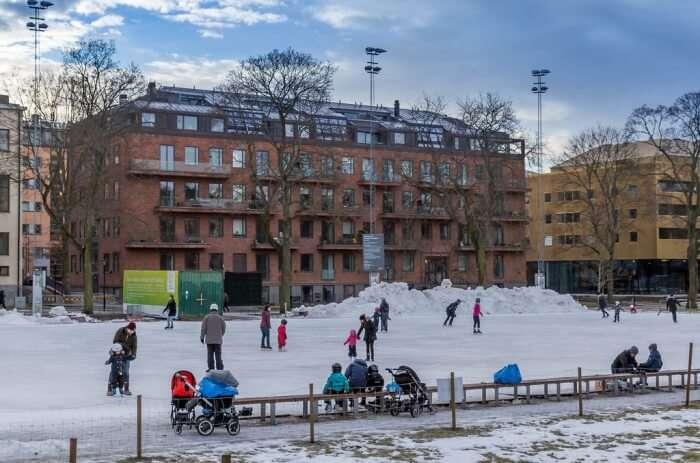 Ice Skating in Vasaparken