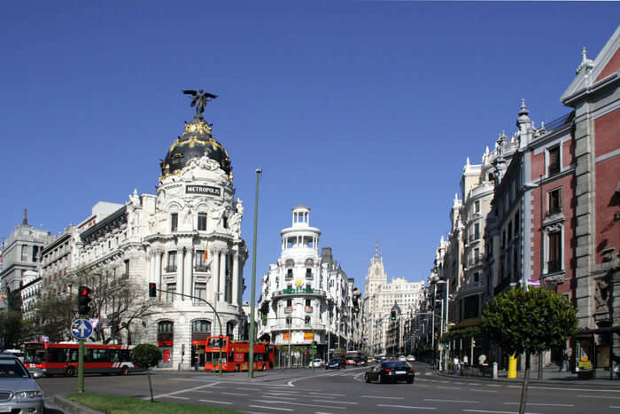 Famous city Madrid