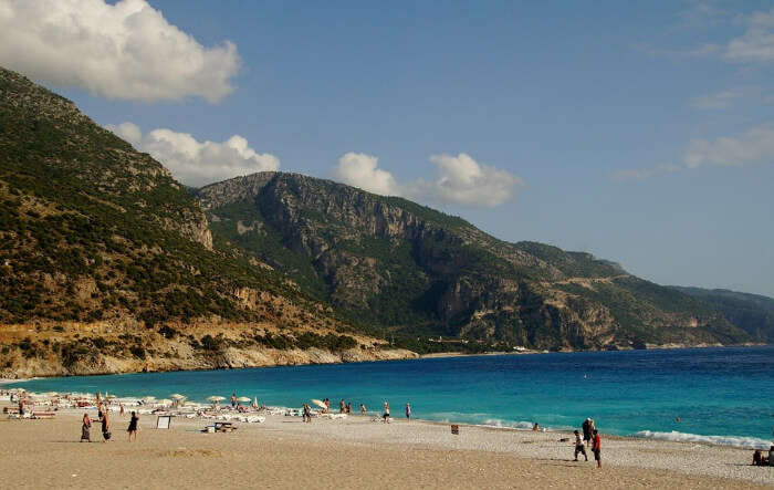 A beach in Marmaris of Turkeye