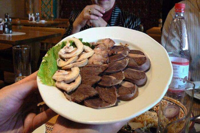 Tasty food of restaurant