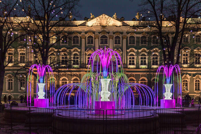 Beautiful colourful Fountain