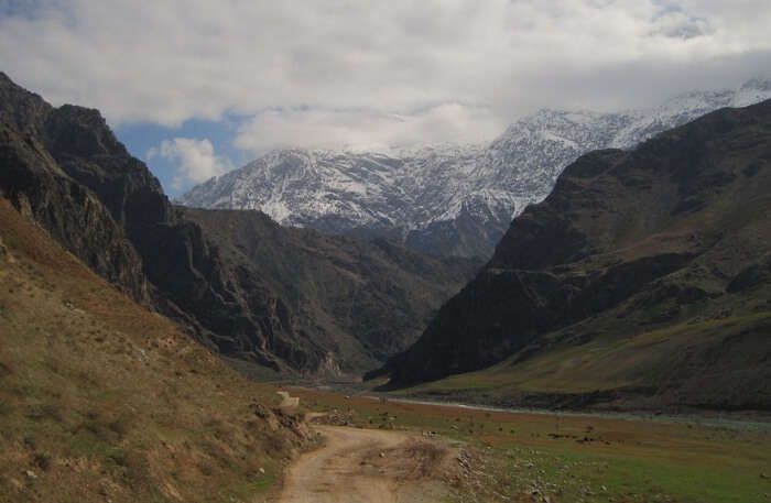 View of Pamir valley of Langar