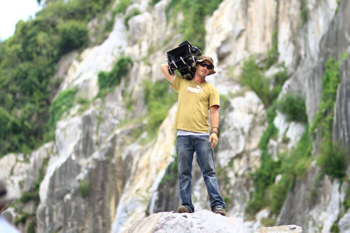 Photography at mountain peak