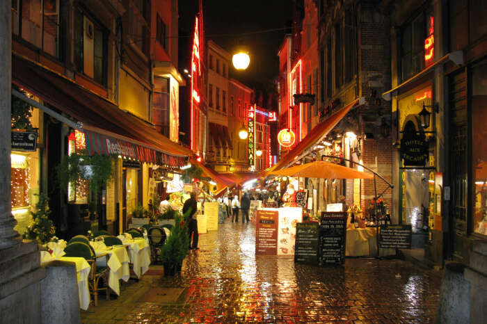 Rue des Bouchers in Belgium