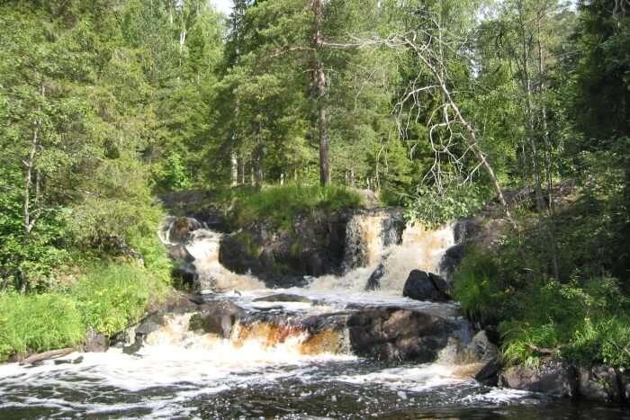 Ruskeala waterfalls