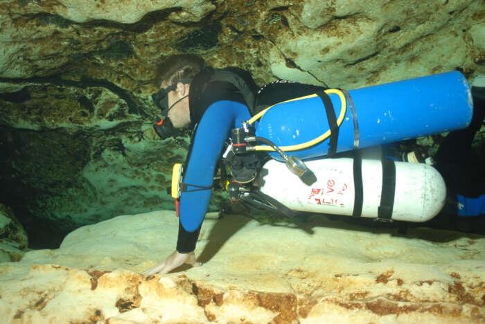 Scuba Diving in water
