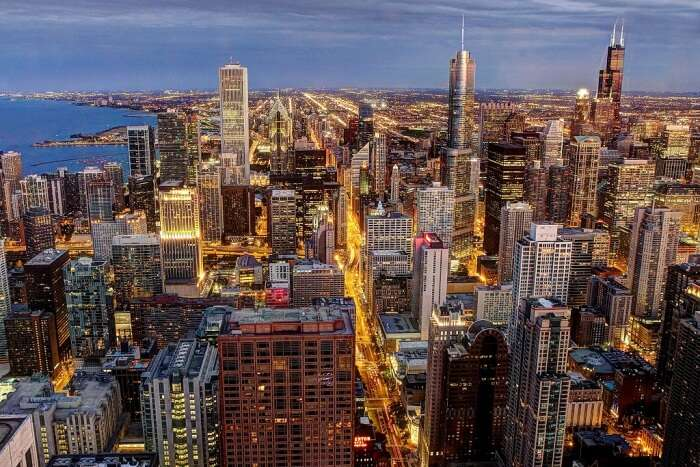 See the Chicago skyline from the Skydeck