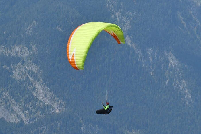 Suitable conditions for paragliding
