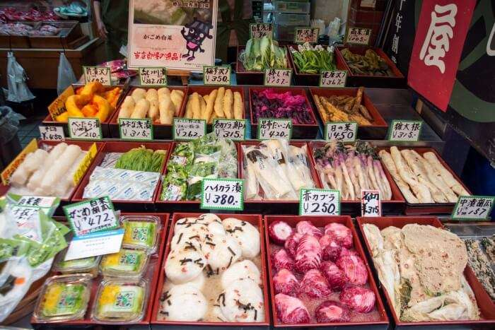 Shop for Japanese food ingredients at the Kuromon market