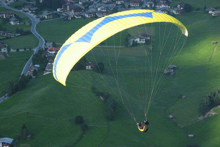 Paraglider on air