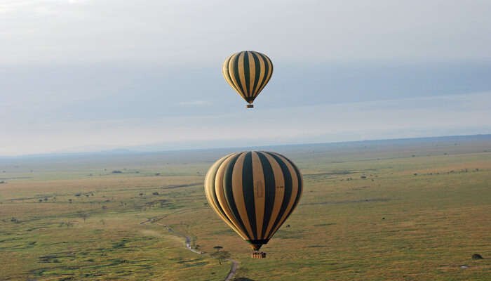Take a look from the hot air balloon