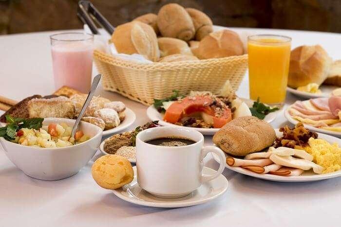 tea and food