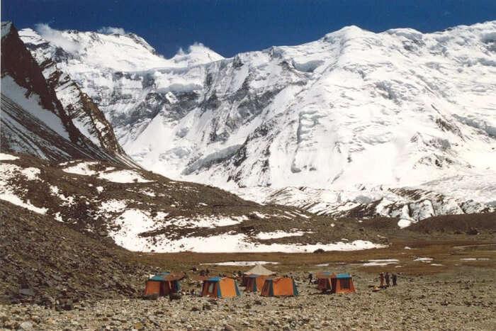 Mountain between Bhutan and China