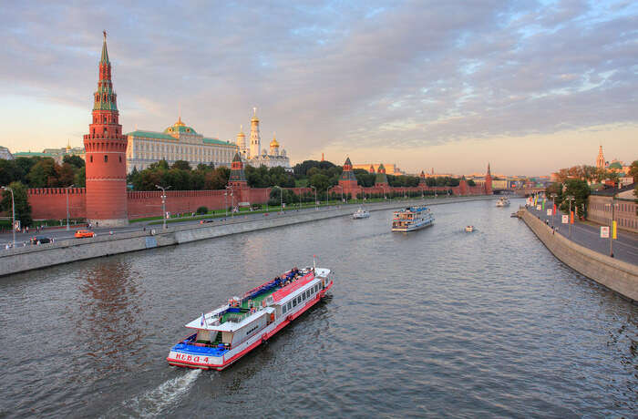Try the cruise over Moskva